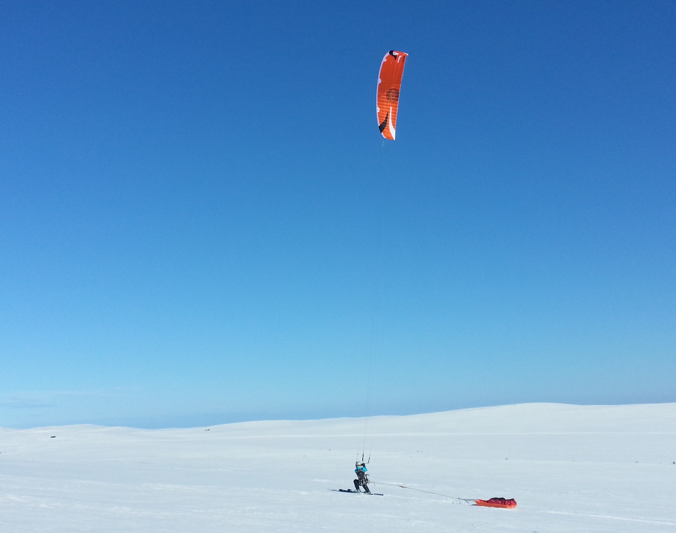 Kiting Varanger photo Oyvind Stangnes